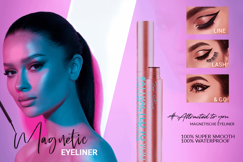 Magnetische eyeliner too glam nepwimpers